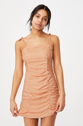 Cotton On Woven Holly Ruched Strappy Mini Dress