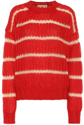 Plan C Striped mohair-blend sweater