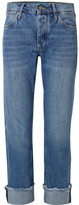 MiH Jeans Phoebe Frayed Boyfriend Jeans - Mid denim