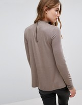 Only High Neck Swing Back top