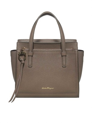 Salvatore Ferragamo Double Handle Small Shoulder Bag