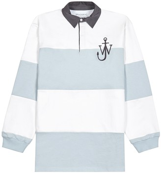 J.W.Anderson Blue and white cotton polo shirt