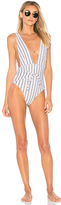 SKYE & staghorn Turkish Plunge One Piece in White. - size M (also in )