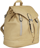 Beige Zip-Pocket Backpack