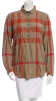 Burberry Exploded Check Long Sleeve Top