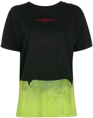Ottolinger logo embroidered colour-block T-shirt