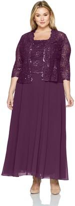 Emma Street Women's Size Two Piece Lace Jacket Dress Plus