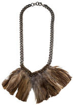 Lanvin Long Feather Necklace