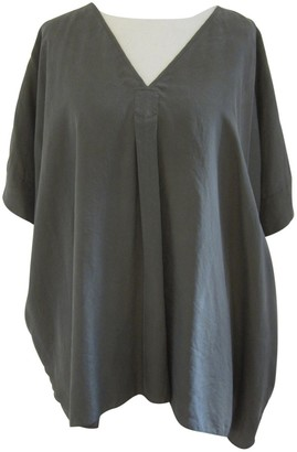 Cos Khaki Silk Top for Women