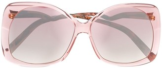 Emmanuelle Khanh Oversized Two Tone Sunglasses