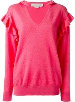 Stella McCartney frilled detail jumper - women - Polyamide/Spandex/Elastane/Wool/Virgin Wool - 40