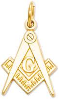 Macy's 14k Gold Charm, Masonic Charm