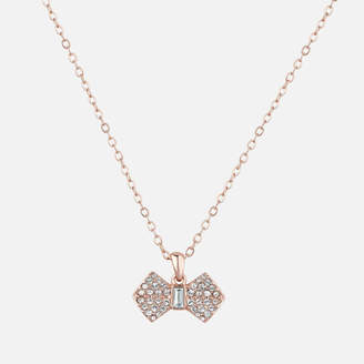 Ted Baker Women's Sanra Solitaire Pave Bow Pendant - Rose Gold