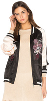 Sanctuary Relaxed Sakura Blossom Bomber in Black. - size XS (also in )