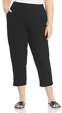 Eileen Fisher, Plus Size Ribbed Ankle Pants