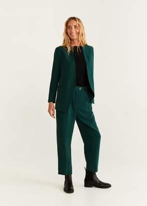 MANGO Unstructured suit blazer green - L - Women