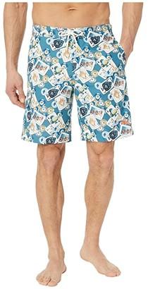 Tommy Bahama Baja Stack The Deck Boardshorts (Pagoda) Men's Swimwear