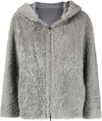 Fabiana Filippi Textured Hooded Jacket