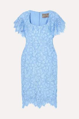 Lela Rose Corded Lace Dress - Sky blue