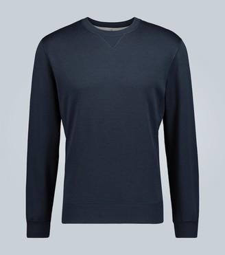 Brunello Cucinelli Cotton and silk-blend sweatshirt