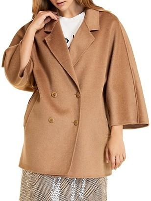 Marina Rinaldi, Plus Size Wool-Blend Double-Breasted Car Coat