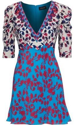 Saloni Colette Floral-print Silk Crepe De Chine Mini Dress