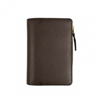 Comme des Garcons Brown Leather Wallets