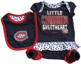 Reebok Montreal Canadiens Newborn Girls Little Sweetheart 3-Piece Creeper, Bib & Bootie Set