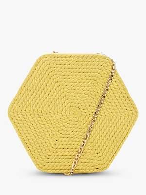Dune Edalta Woven Hexagonal Chain Strap Bag