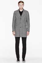 Paul Smith Black & White wool houndstooth coat