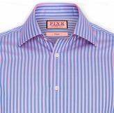 Thomas Pink Seaside Stripe Shirt - Button Cuff