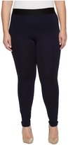 Hue Plus Size High Waist Blackout Ponte Leggings Women's Casual Pants
