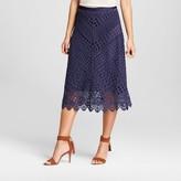 John Paul Richard JohnPaulRichard Women's Crochet A-Line Skirt