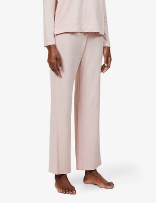 Skin Fabianna wide-leg mid-rise stretch-jersey pyjama trousers