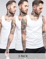 Boss Black By Hugo Boss Vest 3 Pack In Regular Fit White
