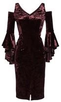 Maggy London Women's Cold Shoulder Velvet Dress