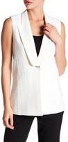Veronica Beard Lucia Long & Lean Lapel Vest