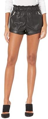 Blank NYC Elastic Waist Shorts w/ Patch Pockets (Maleficent) Women's Shorts