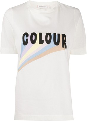 Chinti and Parker Colour print organic cotton T-shirt
