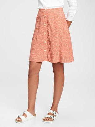 Gap Button-Front Mini Skirt