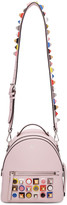Fendi Pink Mini Studded Rainbow Messenger Backpack