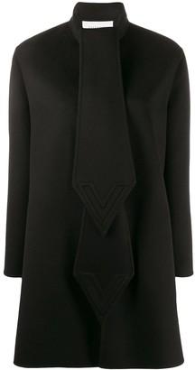 Valentino Intarsia Cape-Style Coat