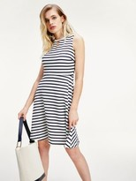 Tommy Hilfiger All-Over Stripe Fit And Flare Dress