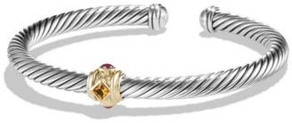 David Yurman Renaissance Bracelet with Gemstone & 14K Yellow Gold/5mm
