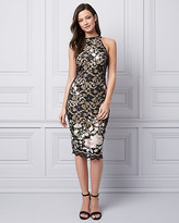 Le Château Embroidered Lace Halter Cocktail Dress
