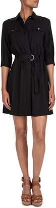 BA&SH Victoire Belted Mini Shirtdress