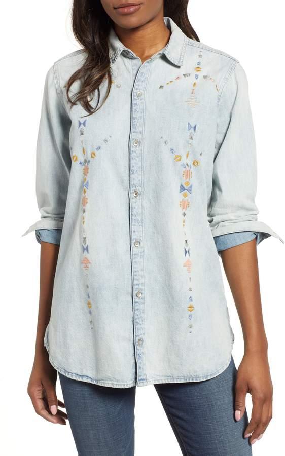 401980ddee Embroidered Boyfriend Shirt