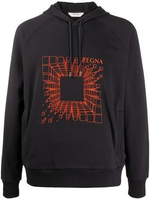 Ermenegildo Zegna Graphic-Print Cotton Hoodie