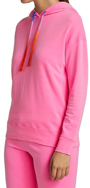 Thumbnail for your product : Sundry Tie-Dye Drawcord Neon Hooded Sweatshirt