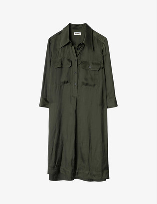 Zadig & Voltaire Roa satin shirtdress